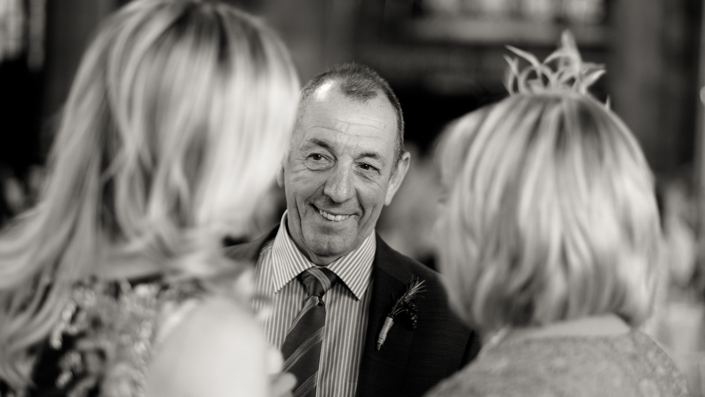 Image of father of bride at wedding in Newcastle
