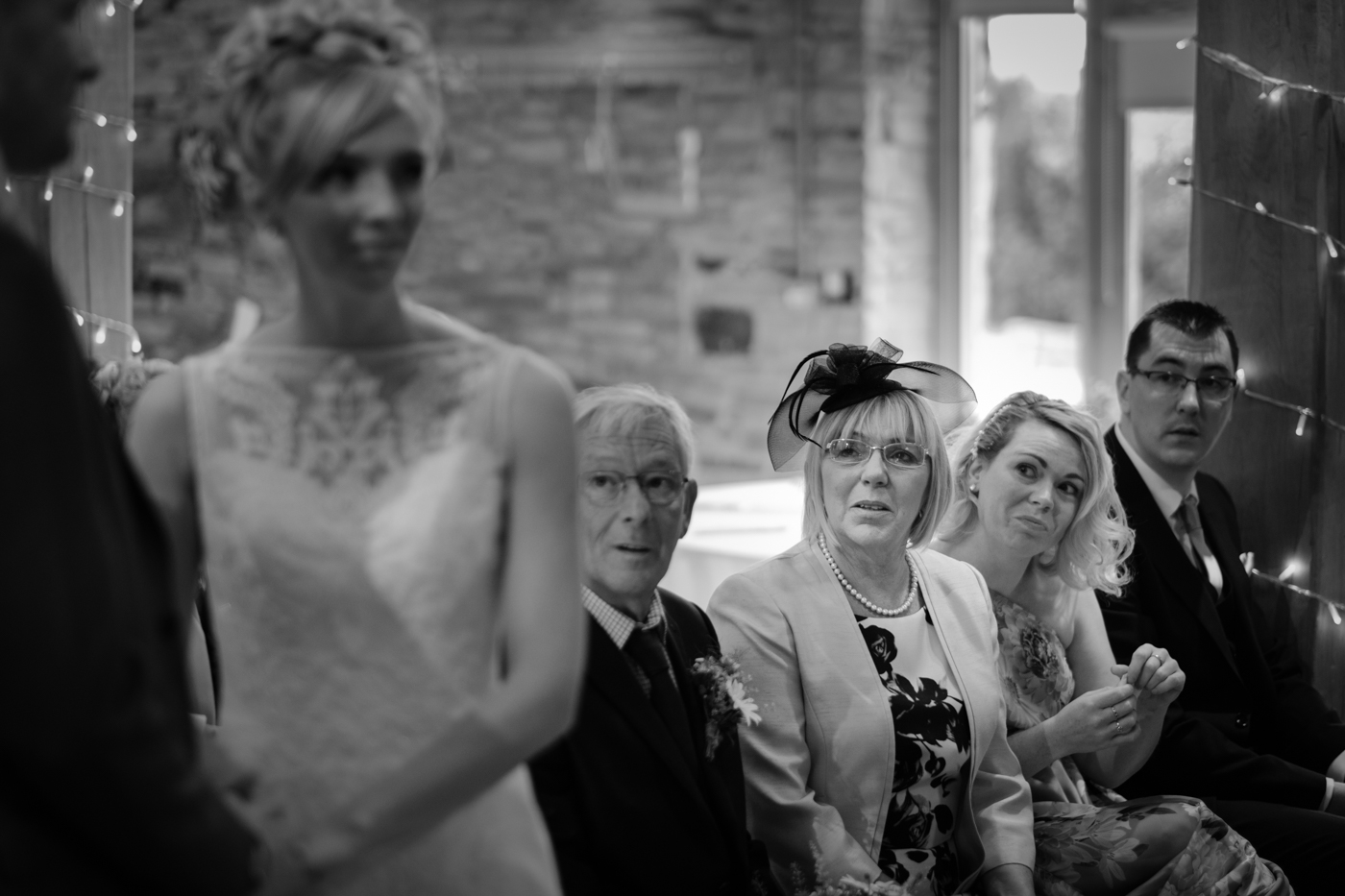 Image of mother of the bride watching wedding in Wakefield