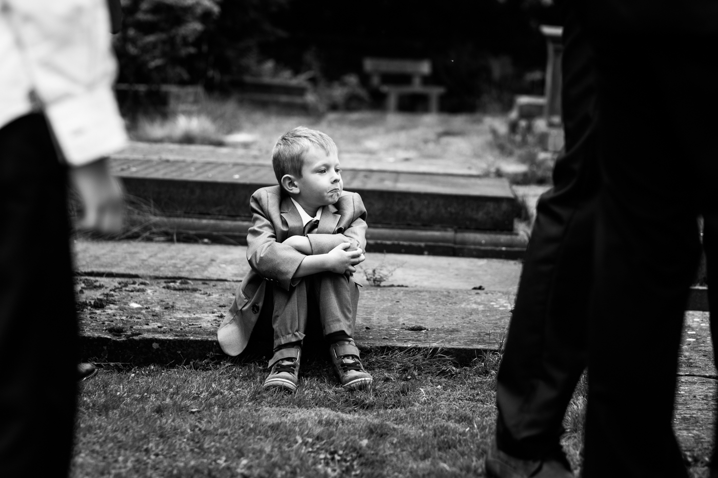 Image of child watching wedding in Leeds