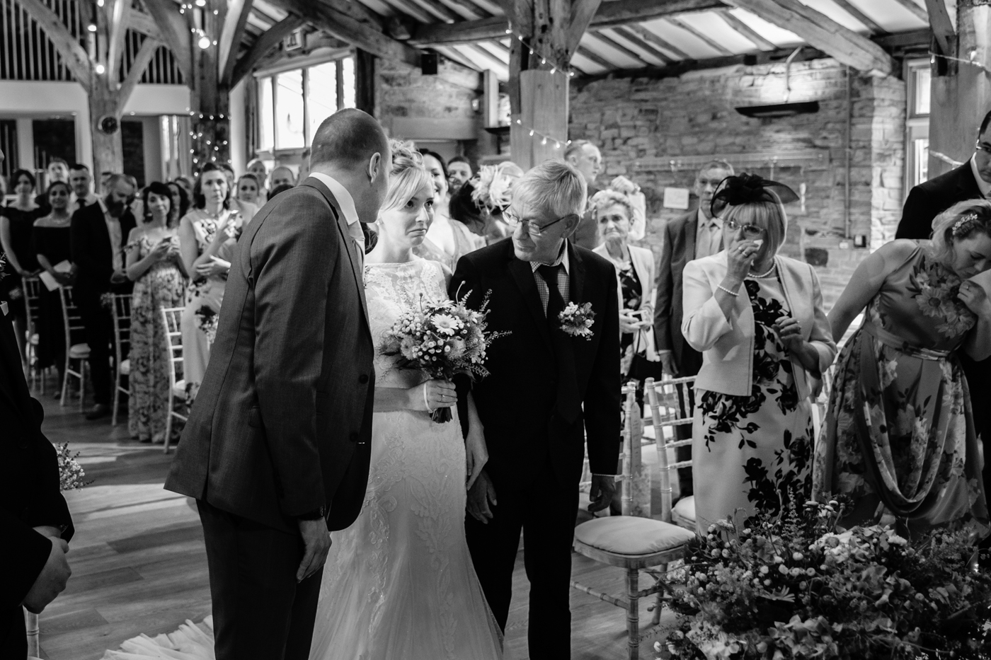 Image of Father giving away the bride at Wedding in Wakefield Yorkshire