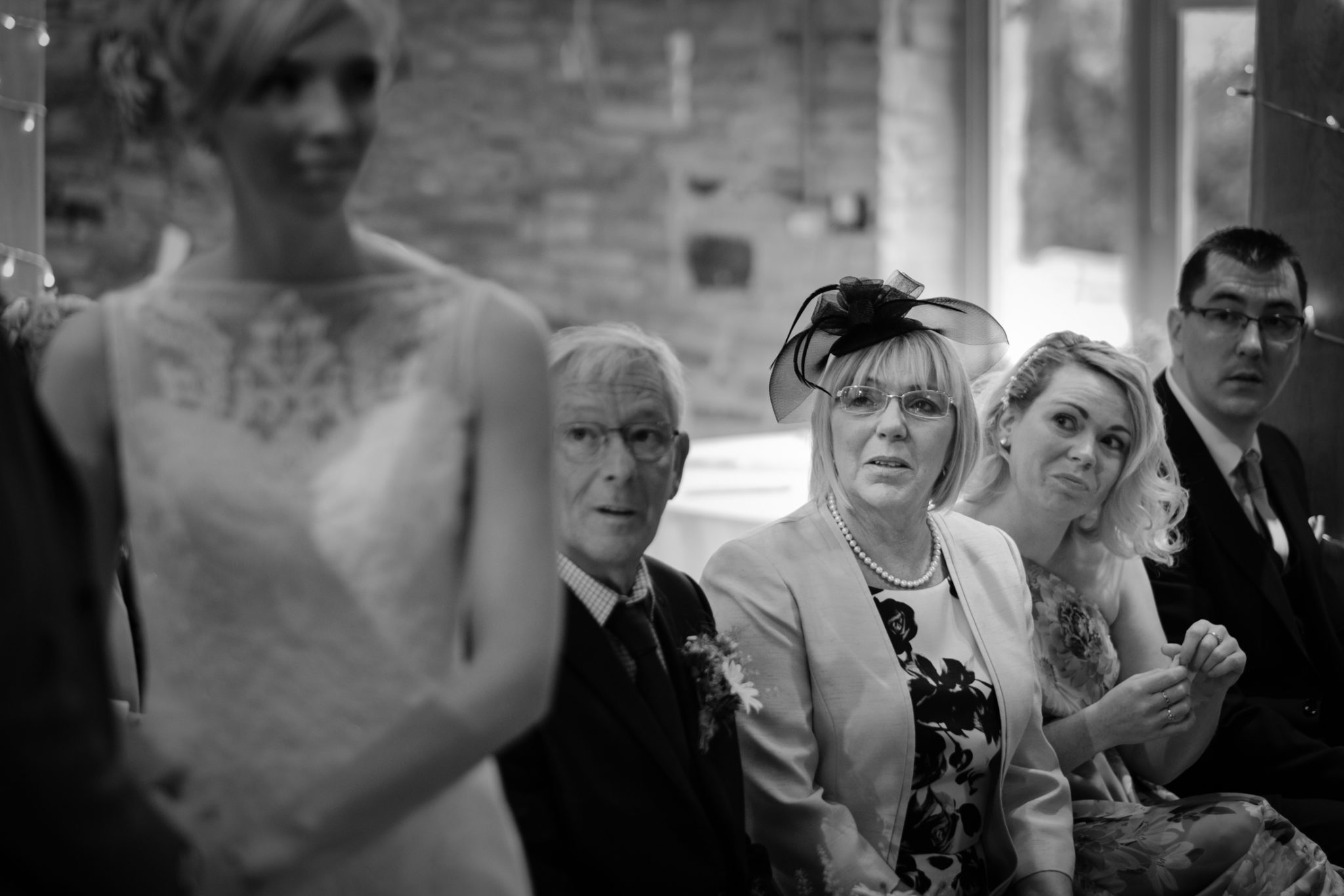 wedding photography mother of bride watches ceremony
