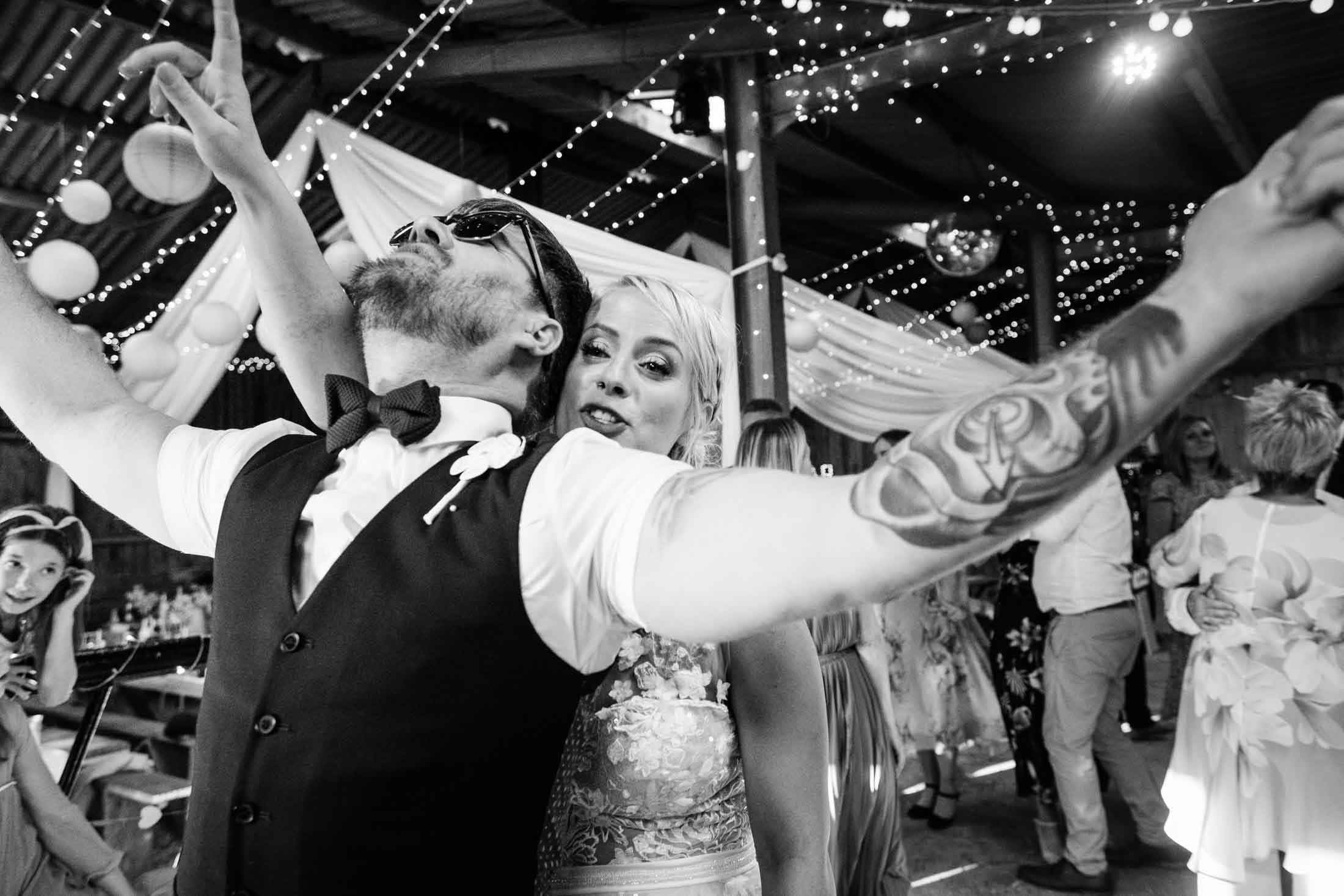 bride and groom dance at stepney hill farm wedding