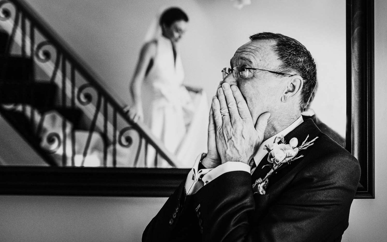 yorkshire wedding photography of father and bride