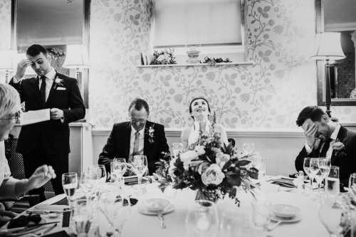 Wedding speeches at Middlethorpe Hall in York